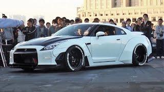 getlinkyoutube.com-【アワード受賞 エアサスGTR】 StanceNation 2015 Tokyo G Edition スタンスネーション 車高短 シャコタン Lowered Low car exhaust