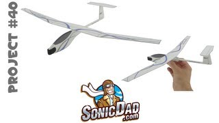 getlinkyoutube.com-How to Make a Glider Airplane from Foam Picnic Plates! SonicDad Project #40