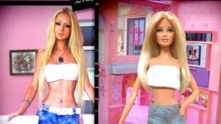 Real-Life Barbie Doll: Model Valeria Lukyanova Transforms Herself | Good Morning America | ABC News