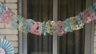 getlinkyoutube.com-Cómo hacer guirnaldas de papel | facilisimo.com