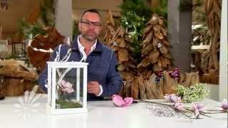 getlinkyoutube.com-Lantaarn decoreren met takken en bloemen met Romeo Sommers