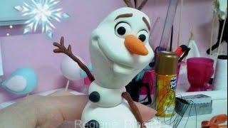 getlinkyoutube.com-OLAF de FROZEN - Boneco de Neve - Tutorial em biscuit por Regiane Ribeiro