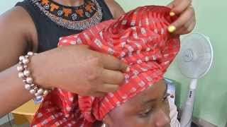 getlinkyoutube.com-How To Tie Bridal Head Gear with [ASO OKE] 2014
