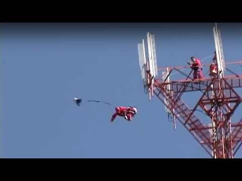 Base Jump off an Antenna in Mexico - Aerial Extreme