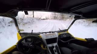 getlinkyoutube.com-Yamaha YXZ1000R ripping around on the snow and ice