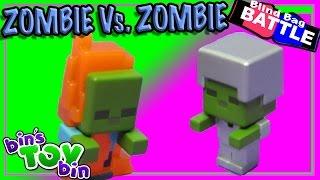 getlinkyoutube.com-Blind Bag Battle #11 - Minecraft Zombie Vs. Zombie!!! Opening by Bin's Toy Bin
