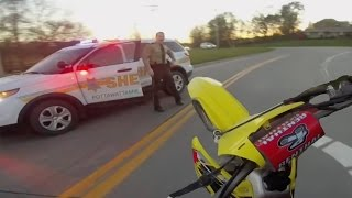 getlinkyoutube.com-10 Minute Dirtbike Chase with Police!!