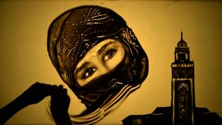 "getlinkyoutube.com-Sand art ""Beautiful Morocco"" by Kseniya Simonova - Рисунки песком ""Марокко"" (Ксения Симонова)"