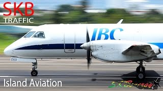 getlinkyoutube.com-Saab 340 departures !!! IBC Airways - Seaborne Airlines @ St. Kitts Airport