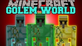 getlinkyoutube.com-MInecraft: GOLEM WORLD (MORE GOLEMS WITH SPECIAL ABILITIES!) Mod Showcase