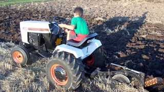 getlinkyoutube.com-CASE 226 / 328 Garden Tractor Plowing. Tire Spinning Action!!!