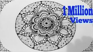 getlinkyoutube.com-✽HOW TO DRAW -MANDALA ART✽