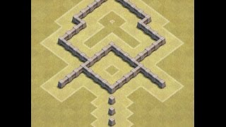 getlinkyoutube.com-Clash of clans //  th3 war base design // (extra replay)
