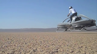 Hover Bike Flies on Pilot