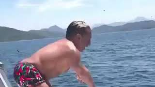 When a midget  falls into the water #2 try not to laugh