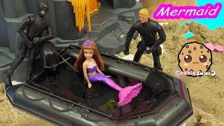 getlinkyoutube.com-Water Boat - Trapped Mermaid Part 7 - Barbie Mini Doll Video Series  CookieSwirlc