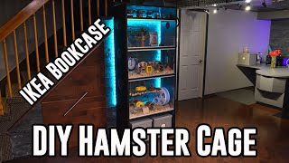 getlinkyoutube.com-DIY Hamster Cage Tour & Hamster Reactions