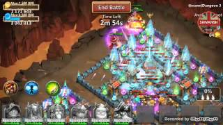 CastleClash insane 3-6 With PURE F2P heroes