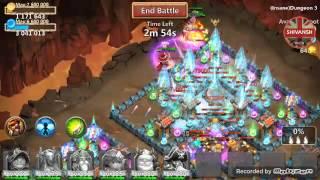 getlinkyoutube.com-CastleClash insane 3-6 With PURE F2P heroes
