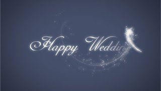 "getlinkyoutube.com-結婚式ビデオ用の無料素材 魔法の杖で現れるFairy Dust ""Happy Wedding"""