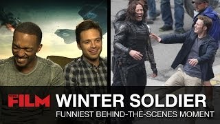 getlinkyoutube.com-Captain America: The Winter Soldier Cast's Funniest Behind-the-Scenes Moments