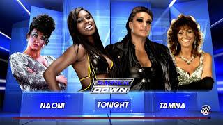 getlinkyoutube.com-WWE 2K16 Naomi with Sensational Sherri vs Tamina with Miss Elizabeth
