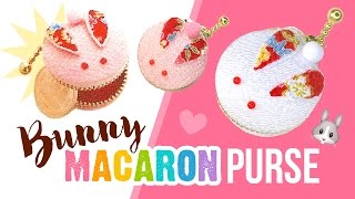 getlinkyoutube.com-DIY Bunny Macaron Coin Purse!! ASMR Japanese Style Craft Kit