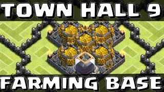 getlinkyoutube.com-Clash of Clans - Town Hall 9 Farming Base with 4th Mortar SpeedBuild!