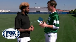 getlinkyoutube.com-Odell Beckham Jr. catches Peanut M&M'S from Cooper Manning  - #MANNINGHOUR