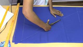 getlinkyoutube.com-Kids Fish Tail Dress 1. Marking and Cutting