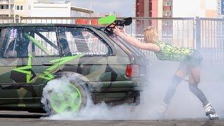 getlinkyoutube.com-Drift Show with Girl BMW E30