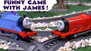 getlinkyoutube.com-Thomas & Friends Toy Trains Dinosaur Funny Prank on James with Play Doh - Fun toys story ToyTrains4u