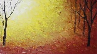 getlinkyoutube.com-Acrylic Painting - Abstract Autumn - #LoveFallArt #Painting