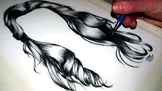 getlinkyoutube.com-How to draw Realistic Hair