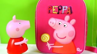 getlinkyoutube.com-MOCHILA SORPRESA PEPPA PIG con Violetta Frozen Littlest Pet Shop Bob Esponja Angry Birds Minnie