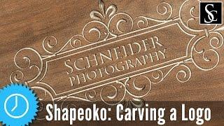 getlinkyoutube.com-Shapeoko 3: Carving Logo With V-bit