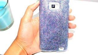 getlinkyoutube.com-كيفية تزيين غطاء آيفون: Glitter phone case DIY