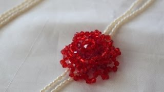 getlinkyoutube.com-Rose Flower Beading Lesson/ Video