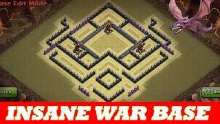getlinkyoutube.com-INSANE TH8 WAR BASE | ANTI AIR /DRAG ANTI HOG | 2 DEFENSIVE REPLAYS | Clash Of Clans