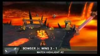 getlinkyoutube.com-Mario Strikers Charged Football Bowser Jr. vs. Bowser (CPU lv. 5)