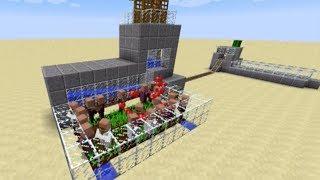 getlinkyoutube.com-Minecraft Tutorial - 1.8 Infinite Adult Villager Spawner and Transport System