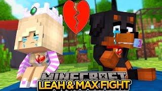 getlinkyoutube.com-BAY LEAH & MAX FIGHT AT SCHOOL!!! - Minecraft - Little Donny Adventures.