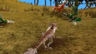 getlinkyoutube.com-Spore Rogue Allosaur rampage part 1 of 4