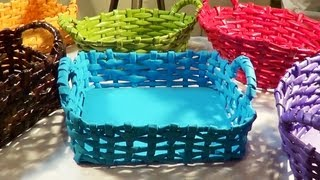 getlinkyoutube.com-Cesta com alça - Basket with Handle - Canastra con manijas
