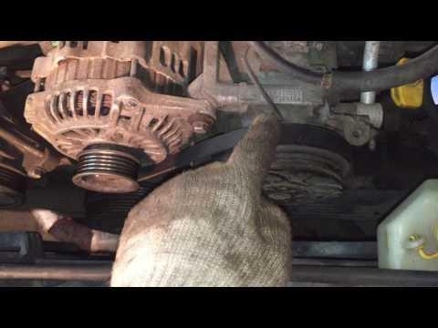 Замена приводных ремней Subaru