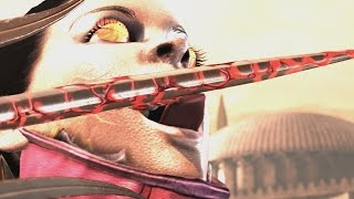 getlinkyoutube.com-Mortal Kombat X - Mileena/Kitana Mesh Swap Intro, X Ray, Victory Pose, Fatalities, Brutality