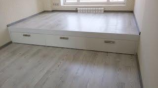 getlinkyoutube.com-Кровать подиум своими руками
