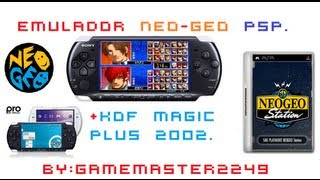 Emulador NEO GEO para PSP + The King Of Fithers Magic PLus 2002