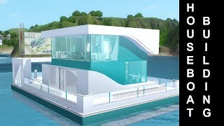 getlinkyoutube.com-The Sims 3 - Into The Future - HouseBoat Building - S.S. Shapes