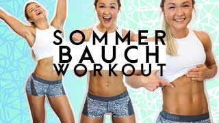 getlinkyoutube.com-♥HOME BIKINI BAUCH Workout♥ | FIT für den Sommer | Sophia Thiel